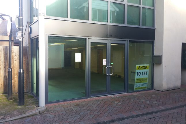 Retail premises to let in Bewell Street, Hereford