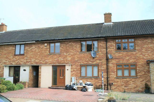 Thumbnail Terraced house to rent in Bell Avenue, Heaton Grange, Romford