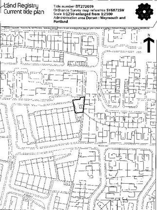Title Plan.Png of Blacknor Road, Portland DT5