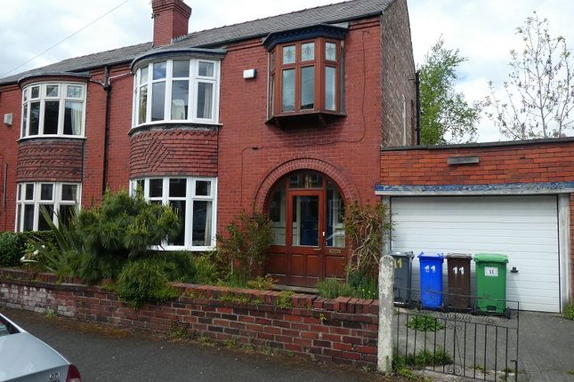 Thumbnail Semi-detached house for sale in Milton Grove, Whalley Range, Manchester.