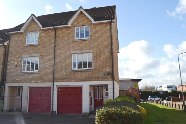 Thumbnail End terrace house to rent in Pearcy Close, Harold Hill, Romford