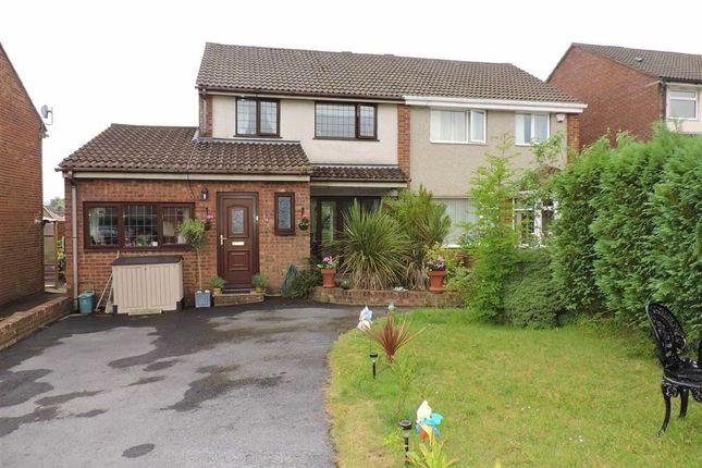 Thumbnail Semi-detached house for sale in Rhodfa'r Wennol, Parc Gwernfadog, Cwmrhydyceirw
