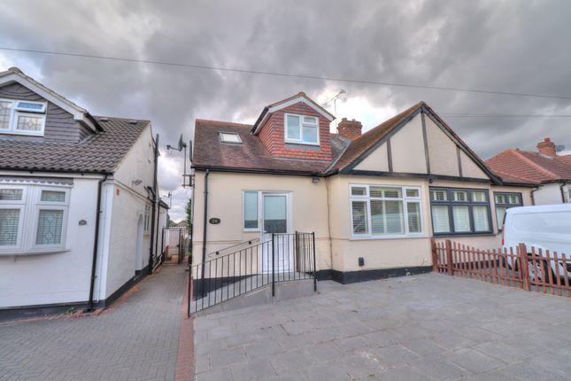 Thumbnail Semi-detached bungalow for sale in Geoffrey Avenue, Harold Wood, Romford
