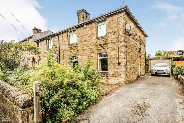 Thumbnail End terrace house for sale in Ryefield Road, Golcar, Huddersfield, West Yorkshire