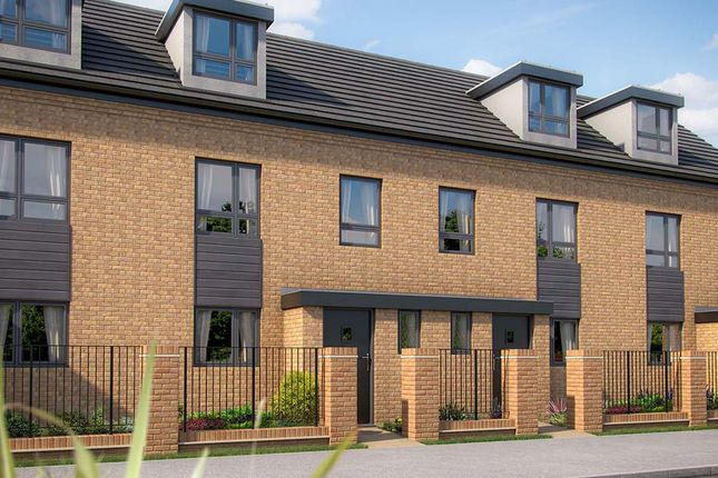 "Thumbnail Town house for sale in ""The Monkston"" at Limousin Avenue, Whitehouse, Milton Keynes"