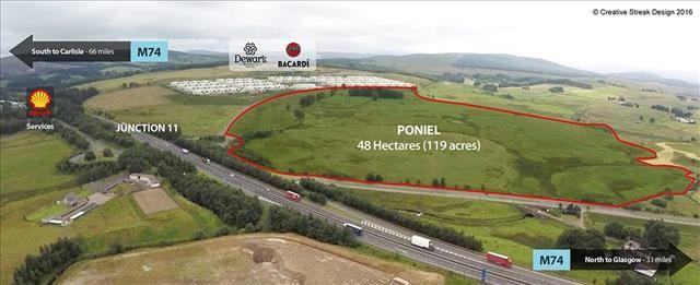 Thumbnail Land for sale in Poniel, Douglas, Lanark