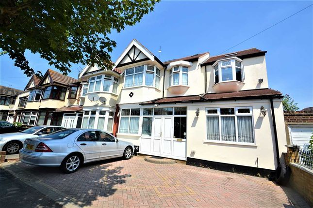 Thumbnail End terrace house for sale in Queenborough Gardens, Gants Hill, Ilford