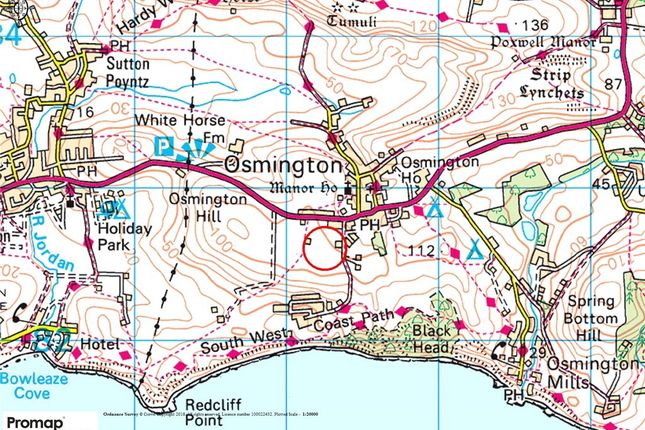 Location Plan of Shortlake Lane, Osmington, Weymouth, Dorset DT3