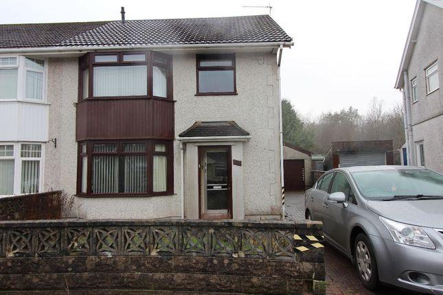 Thumbnail Semi-detached house for sale in Glanhowy Street, Scwrfa, Tredegar