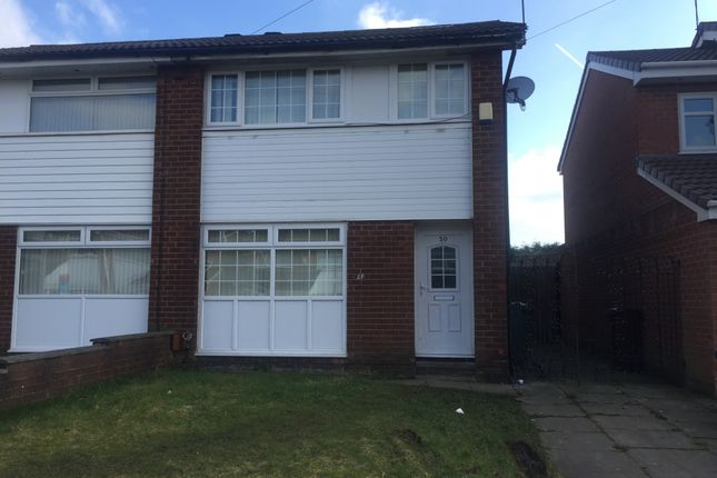 Thumbnail Semi-detached house to rent in Red Rose Crescent, Manchester