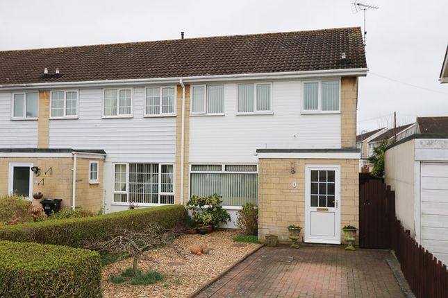Thumbnail End terrace house for sale in Ferenberge Close, Farmborough, Bath