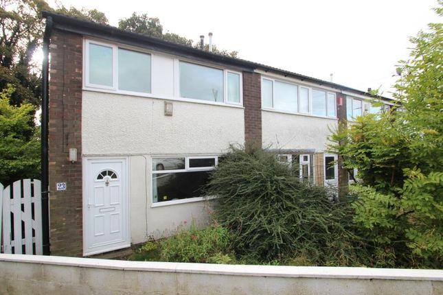 Thumbnail End terrace house to rent in Dean Court, Oakwood, Leeds