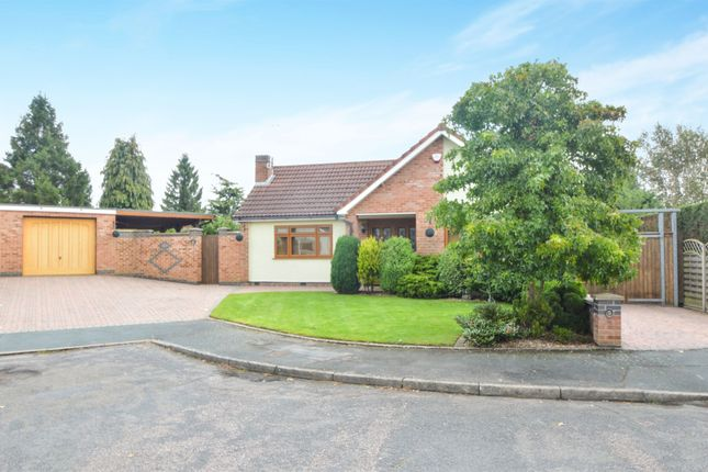 Thumbnail Detached bungalow for sale in Springfield Close, Kibworth, Leicester