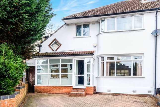 Thumbnail Semi-detached house for sale in Coopers Road, Handsworth Wood, Birmingham
