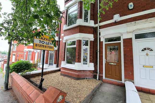 Thumbnail Terraced house to rent in Ruskin Rd, Crewe