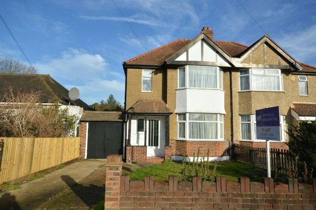 Thumbnail Semi-detached house to rent in Somerset Avenue, Chessington