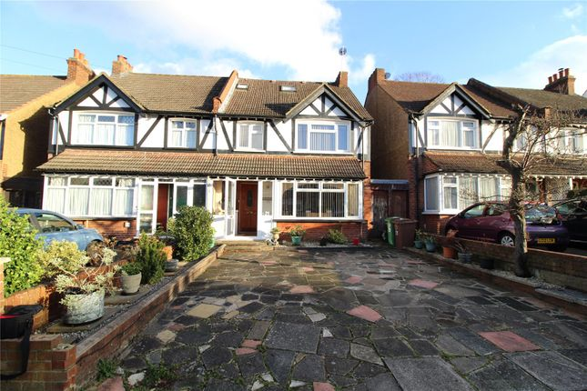 Thumbnail Semi-detached house for sale in Lavender Vale, Wallington