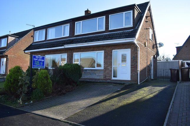Thumbnail Semi-detached house to rent in Kings Drive, Padiham, Lancashire