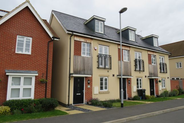 Thumbnail End terrace house for sale in Towpath Avenue, Northampton