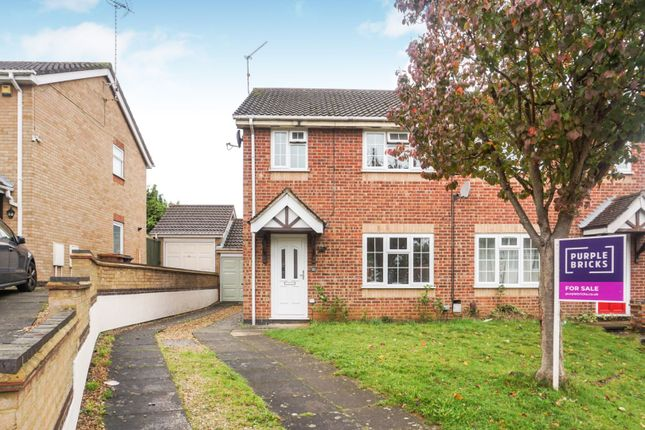 Thumbnail 3 bed semi-detached house to rent in Merryhill, West Hunsbury, Northampton
