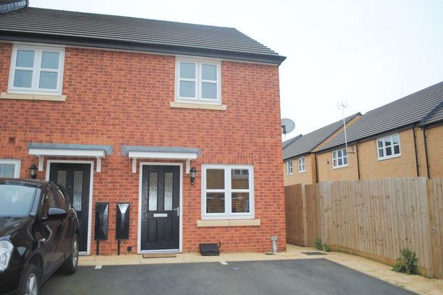 Thumbnail End terrace house for sale in Elderberry Crescent, Higham Ferrers, Rushden