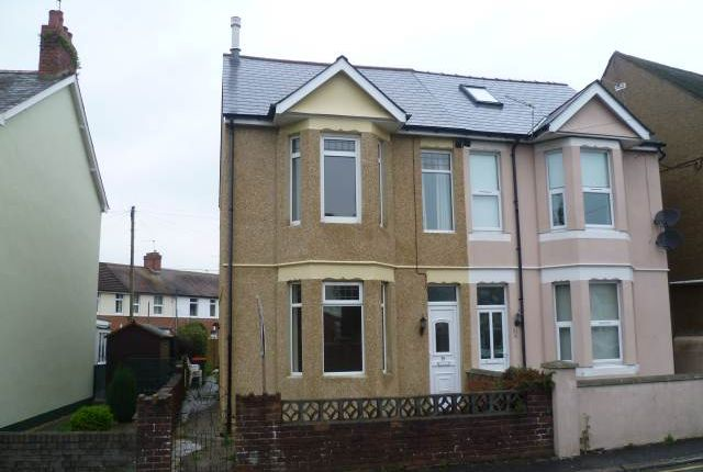 Thumbnail Semi-detached house to rent in St. Johns Crescent, Rogerstone, Newport