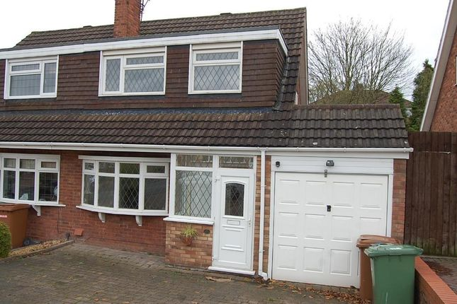 Thumbnail Semi-detached house to rent in Whitethorn Crescent, Streetly