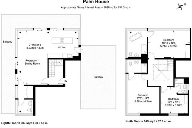 Floorplan of Palm House, 70 Sancroft Street, Kensington, London SE11