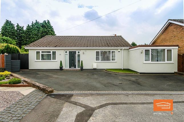 Thumbnail Detached bungalow for sale in Sanstone Close, Bloxwich, Walsall