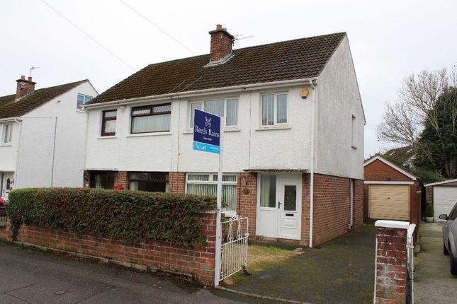 Thumbnail Semi-detached house to rent in Ballyregan Crescent, Dundonald, Belfast