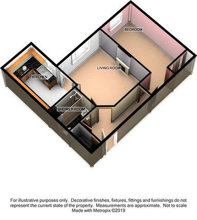 3D Floorplan of Mowbray Court, Heavitree, Exeter EX2