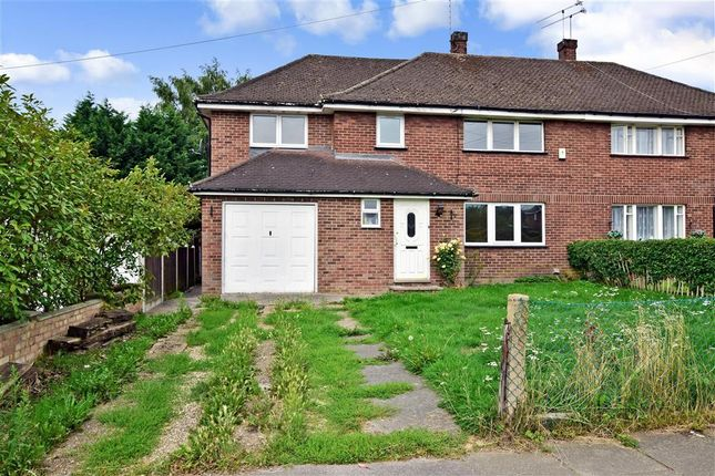 Thumbnail Semi-detached house for sale in Danes Way, Pilgrims Hatch, Brentwood, Essex