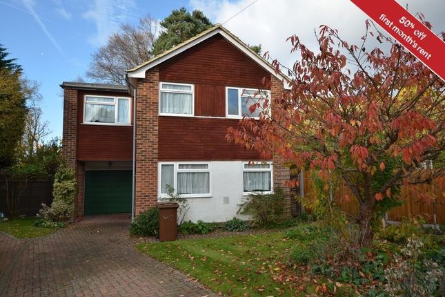 Thumbnail Detached house to rent in Whitehill Close, Camberley