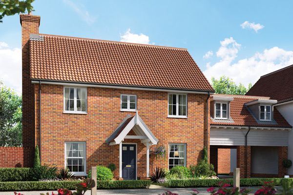 Thumbnail Link-detached house for sale in The Geranium, Station Road, Framlingham, Suffolk