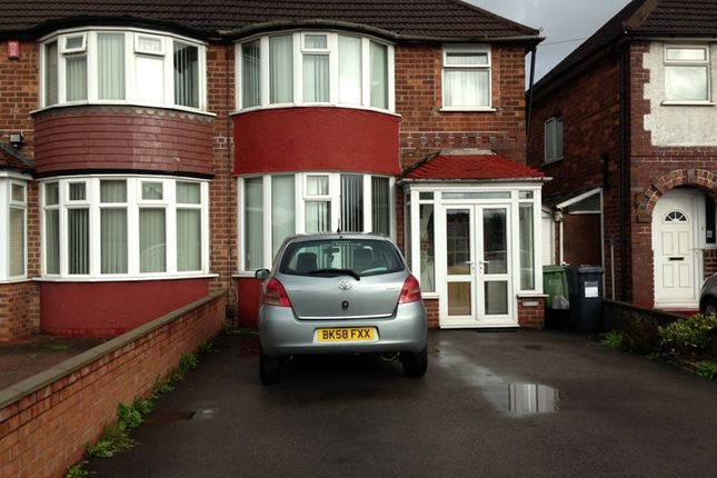 Thumbnail 3 bed semi-detached house for sale in Lyndon Road, Solihull, West Midlands