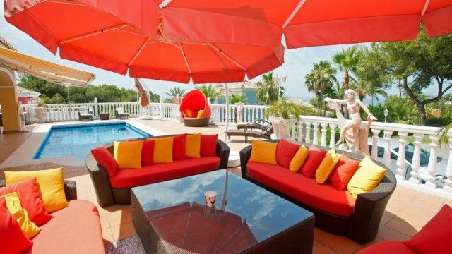 Terrace And Pool of Spain, Málaga, Mijas