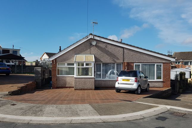 Thumbnail Detached bungalow for sale in Ballas Close, North Cornelly