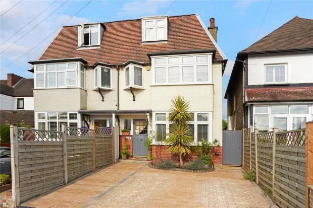 Thumbnail Semi-detached house for sale in Salisbury Road, Carshalton