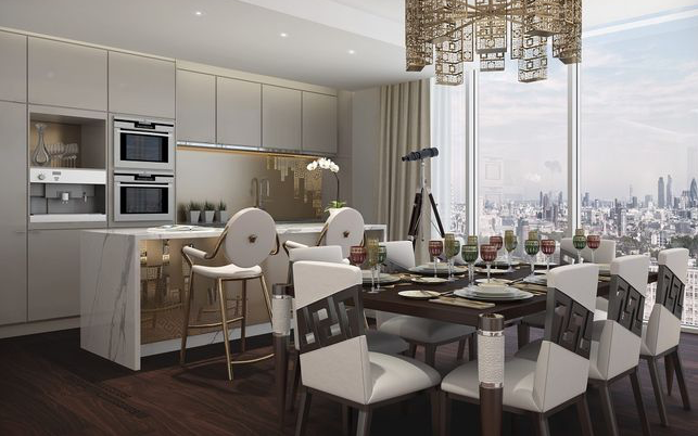 3 bed flat for sale in Damac Tower, Aykon London One, Nine Elms, London SW8