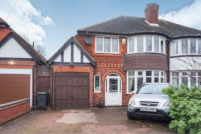Thumbnail Semi Detached House For Sale In Beeches Drive Birmingham