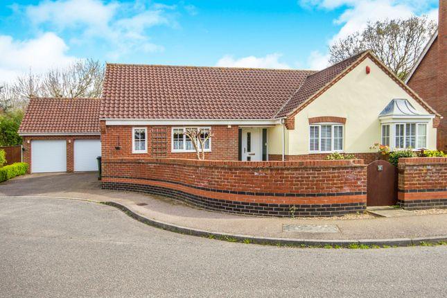 Thumbnail Detached bungalow for sale in Birch Close, Little Melton, Norwich