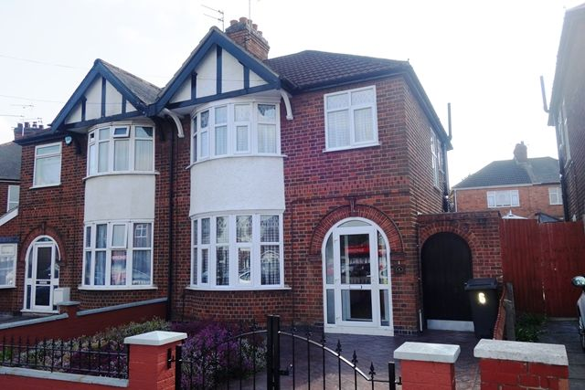 Thumbnail 3 bed semi-detached house for sale in Petworth Drive, Western Park, Leicester