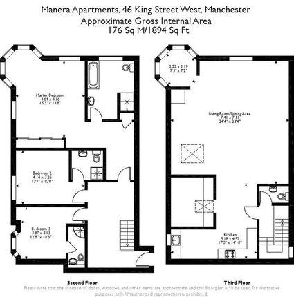 Floor Plan of Manera Apartments, 46 King Street West, Manchester M3