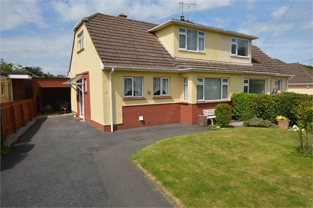3 bed semi-detached house for sale in Manor Drive, Kingskerswell, Newton Abbot, Devon.