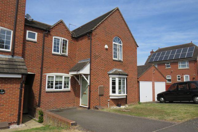 Thumbnail End terrace house for sale in Lodge Close, Grange Park, Northampton