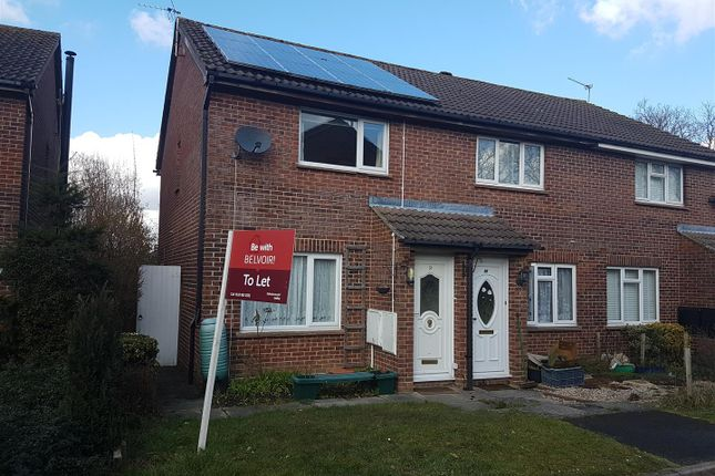 Thumbnail End terrace house to rent in Titchfield Close, Tadley