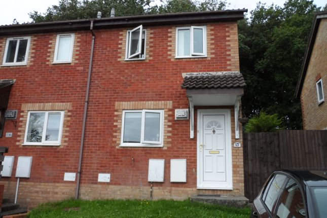 Thumbnail End terrace house to rent in Oaktree Court, Brackla