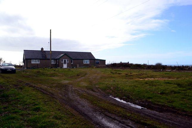 Thumbnail Detached bungalow for sale in Llangwnnadl, Pen Llyn, Llyn Peninsula, North West Wales