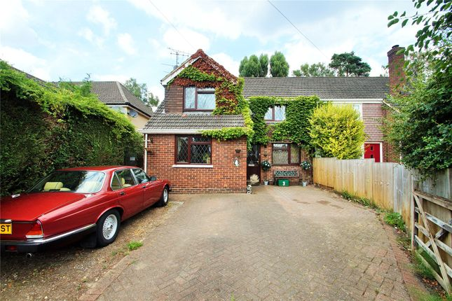 Thumbnail Semi-detached house for sale in College Crescent, College Town, Sandhurst, Berkshire