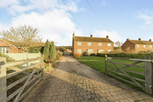 Thumbnail Semi-detached house for sale in Sedgebrook Road, Woolsthorpe, Grantham